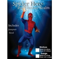 Spider Hero SuperHero Adult Male costume-Large