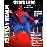 SpiderHero Muscled Adult male Costume
