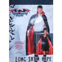 Long Vampire Unisex Black/Red Cape