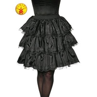 BLACK RUFFLE SKIRT, ADULT