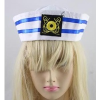 NAVY & WHITE STRIPED SAILOR HAT