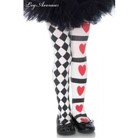 Harlequin and Heart Tights Child Size