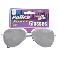Silver Mirrored Party Glasses