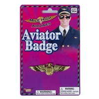 Aviator Gold Flight Captain Badge