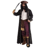 Deluxe Velvet Look Long Pirate Coat