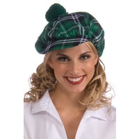 Plaid Irish Cap Unisex Green Black