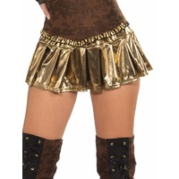 Gold or Silver Lame Mini Skirt