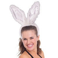 Bunny Ears Fluffy White Super Deluxe