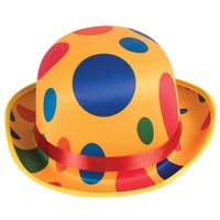 Clown Polka Dot Bowler Hat