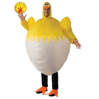 CHICK INFLATABLE COSTUME, ADULT