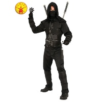 DARK NINJA COSTUME, ADULT XLARGE