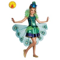 PEACOCK DELUXE COSTUME, CHILD LARGE