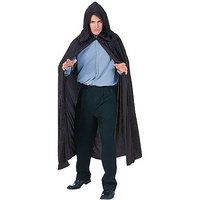 BLACK VELVET HOODED CLOAK/CAPE
