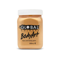 Bodyart Non-Toxic Face & Body Paint Metallic Gold 200ml
