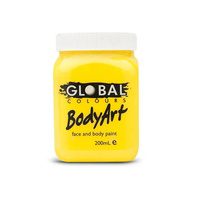 Bodyart Non-Toxic Fae & Body Paint 200ml Yellow