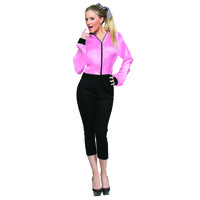 50's Ladies Pink Satin Jacket