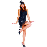 Flapper Glamour Girl - Black - Adult Dress
