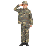 Soldier Costume Unisex Child Size