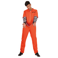 Prisoner Orange Jumpsuit Adult Costume XL