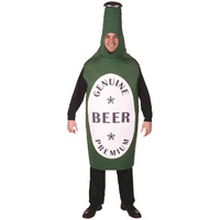 Green Beer Bottle Mascot Costume