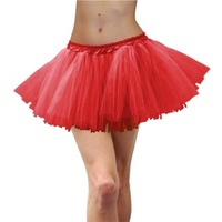 Deluxe Adult Tulle Tutu Red
