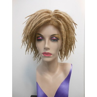 Dredlocks Wig Short Blonde Unisex
