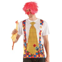 Clown with Big Tie T Shirt Large