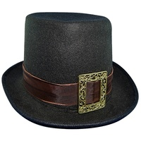 Steampunk Top Hat w/Buckle - Black