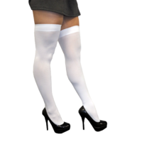 REBLE LEGS WHITE THIGH HIGH STOCKINGS