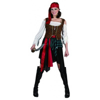 PIRATE COSTUME, ADULT FEMALE