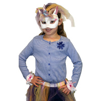 Deluxe Animal Mask & Cuff Set - Unicorn