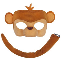 Deluxe Animal Mask & Tail Set Monkey