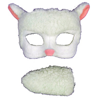 Deluxe Animal Mask & Tail Set Sheep