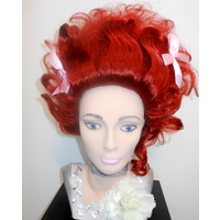 Madame Pompadour 1700-1800 Aristocrat Wig Red