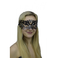 METAL BLACK LACE LOOK MASK