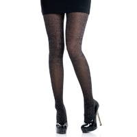 Black Glitter Tights Adult