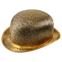 Bowler Hat Gold Tinsel