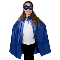 Super Hero Satin Cape with Eye Mask Child