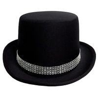 Top Hat Black with Diamante Band