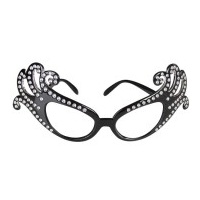 Black Dame Edna Glasses
