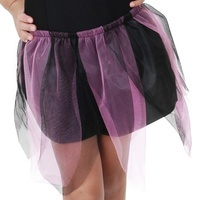 Skirt Net & Nylon with Jagged Edge in Purple & Black