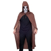 Brown Cape with Hood 142cm