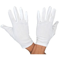 Short White Gloves Costume Accessory