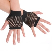 Fishnet Fingerless Short Gloves