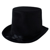 Lincoln Top Hat Velvet Black