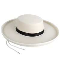 Boater Hat Feltex Cream