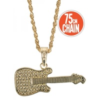 Gold Guitar Necklace
