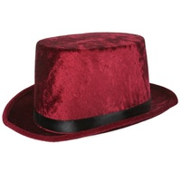 Burgundy Colour Top Hat Party Fancy Dress Hat