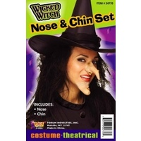Wicked Witch Nose, Chin Set