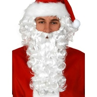Santa White Curly Wig & Beard